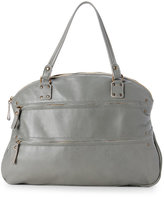 Corsia Vegetable Pearl Washed Leather Satchel