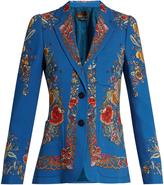 Roberto Cavalli Enchanted Garden-print blazer