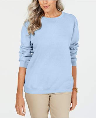 Karen Scott Petite Crewneck Fleece Sweatshirt