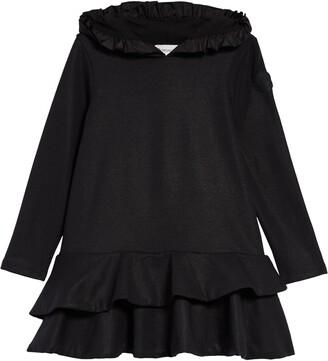 Moncler Kids' Ruffle Trim Sweatshirt Dress