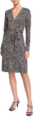 Adrianna Papell Printed Faux-Wrap Dress