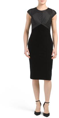 Open Back Velvet Midi Dress