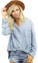 West Coast Wardrobe True Colors Double Pocket Denim Shirt in Denim