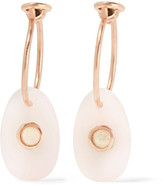 Pascale Monvoisin Orso 9-karat Rose Gold Opal Earrings