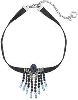 Simply Vera Vera Wang Fringe Faux Leather Choker Necklace