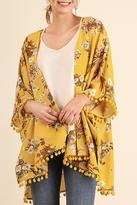 Umgee USA Open Front Yellow Kimono
