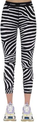 Vetements Zebra Print Lycra Leggings W/logo