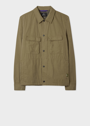 Men's Khaki Cotton Shirt Jacket