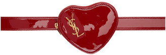 Saint Laurent Red Heart Logo Belt Bag