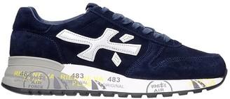 Premiata Mick Sneakers In Blue Suede