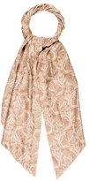 Thomas Wylde Abstract Printed Satin Scarf