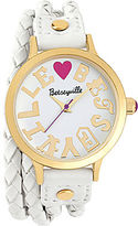 Betseyville by Betsey Johnson Goes 40 Coachella Braided Double-Wrap Watch