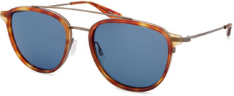 Barton Perreira Men's Courtier Titanium Havana Aviator Sunglasses