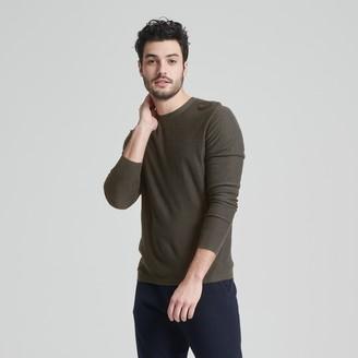 Naadam Silk Cashmere Long Sleeve Tee Faded Army Green