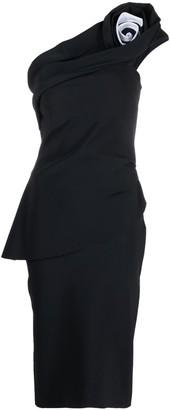 Le Petite Robe Di Chiara Boni One-Shoulder Mid Dress