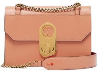 Christian Louboutin Elisa Large Leather Shoulder Bag - Nude