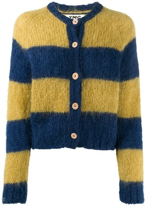 YMC Striped Knit Cardigan
