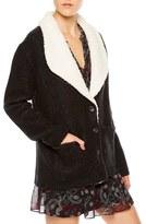 Sanctuary Women's Brady Faux Shearling Trim Knit Jacket