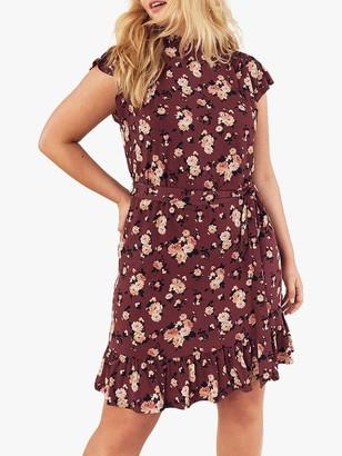 Oasis Curve Floral Skater Dress, Red/Multi
