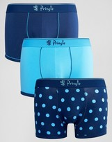 Pringle 3 Pack Trunks In Polka Dot Blue