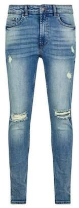 Dorothy Perkins Womens **Burton Acid Green Tint Wash Ethan Super Skinny Fit Jeans