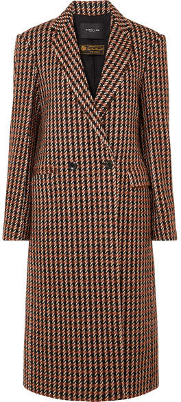 Derek Lam Checked Wool-blend Tweed Coat - Brown