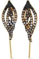 Noir Gleam Gold-Tone Crystal Earrings