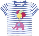 Jo-Jo JoJo Maman Bebe Elephant T-Shirt (Baby)-White/Cornflower-12-18 Months