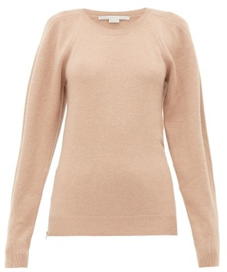 Stella McCartney Side-zip Wool Sweater - Womens - Beige