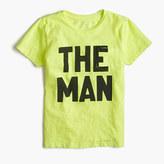 "J.Crew Boys' garment-dyed ""The Man"" T-shirt"