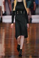 Versace Cutout suede pumps