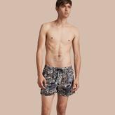 Burberry Lightweight British Seaside Print Swim Shorts