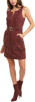 Trina Turk Sultana Suede Mini Dress