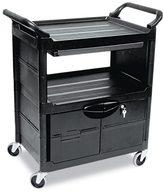 Rubbermaid Utility 2-Shelf Locking Door Cart