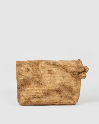 Arms Of Eve - Women's Neutrals Clutches - Tiana Woven Large Bag - Natural - Size One Size at The Iconic