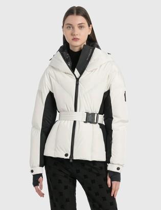 Moncler Long Puffer Jacket With Waist Belt