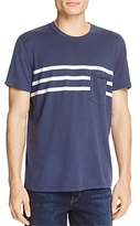 7 For All Mankind Stripe-Detail Pocket Tee