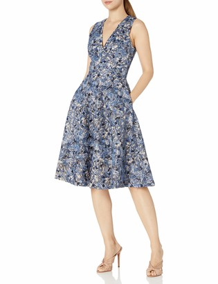 Dress the Population Women's Sally Sleeveless Fit & Flare Midi Dress