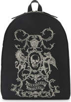 Alexander McQueen Coat of Arms print backpack