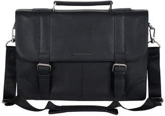 Ben Sherman Premium Karino Leather Double Compartment Briefcase