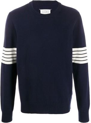 Maison Margiela Stripe Details Knitted Jumper