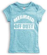 Urban Smalls Heather Aqua 'Mermaid Off Duty' Tee - Toddler & Girls