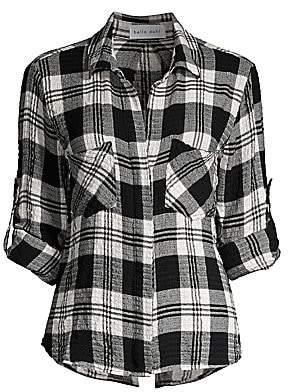 Bella Dahl Women's Split-Back Plaid Button-Down Shirt