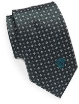 Versace Club & Diamond Print Silk Tie