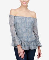 Lucky Brand Ruffled Off-The-Shoulder Top