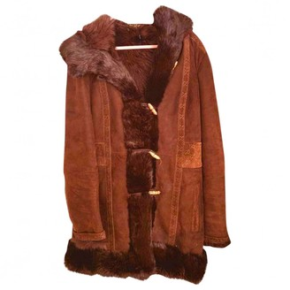 Gucci Brown Suede Coat for Women Vintage