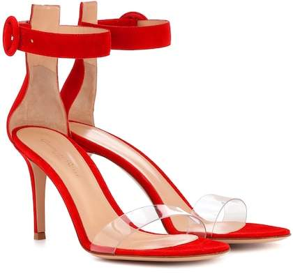 Gianvito Rossi Stella 85 suede sandals