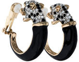 Kenneth Jay Lane Leopard Clip-On Hoop Earrings