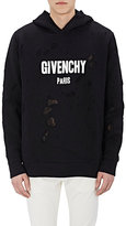 Givenchy MEN'S DISTRESSED COTTON FLEECE HOODIE