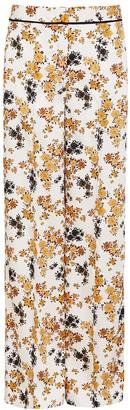 Victoria Victoria Beckham Floral-print Wide-leg Satin Trousers